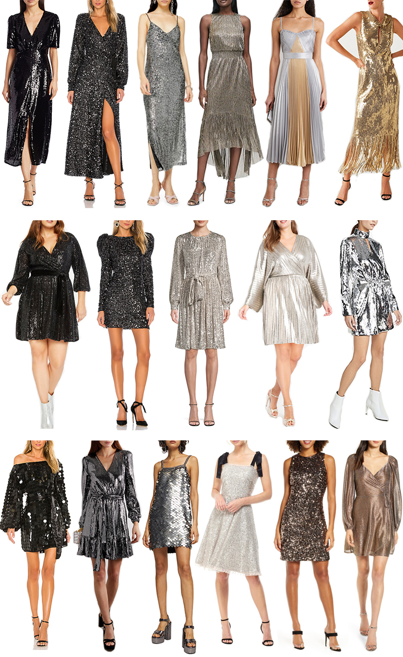 NEW YEAR'S EVE STYLE GUIDE // SEQUIN AND METALLIC DRESSES AND TOPS