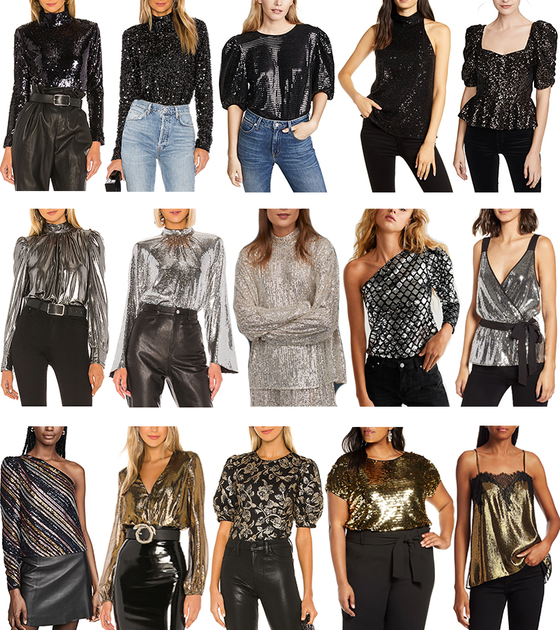 New Year's Eve Sequin Tops
