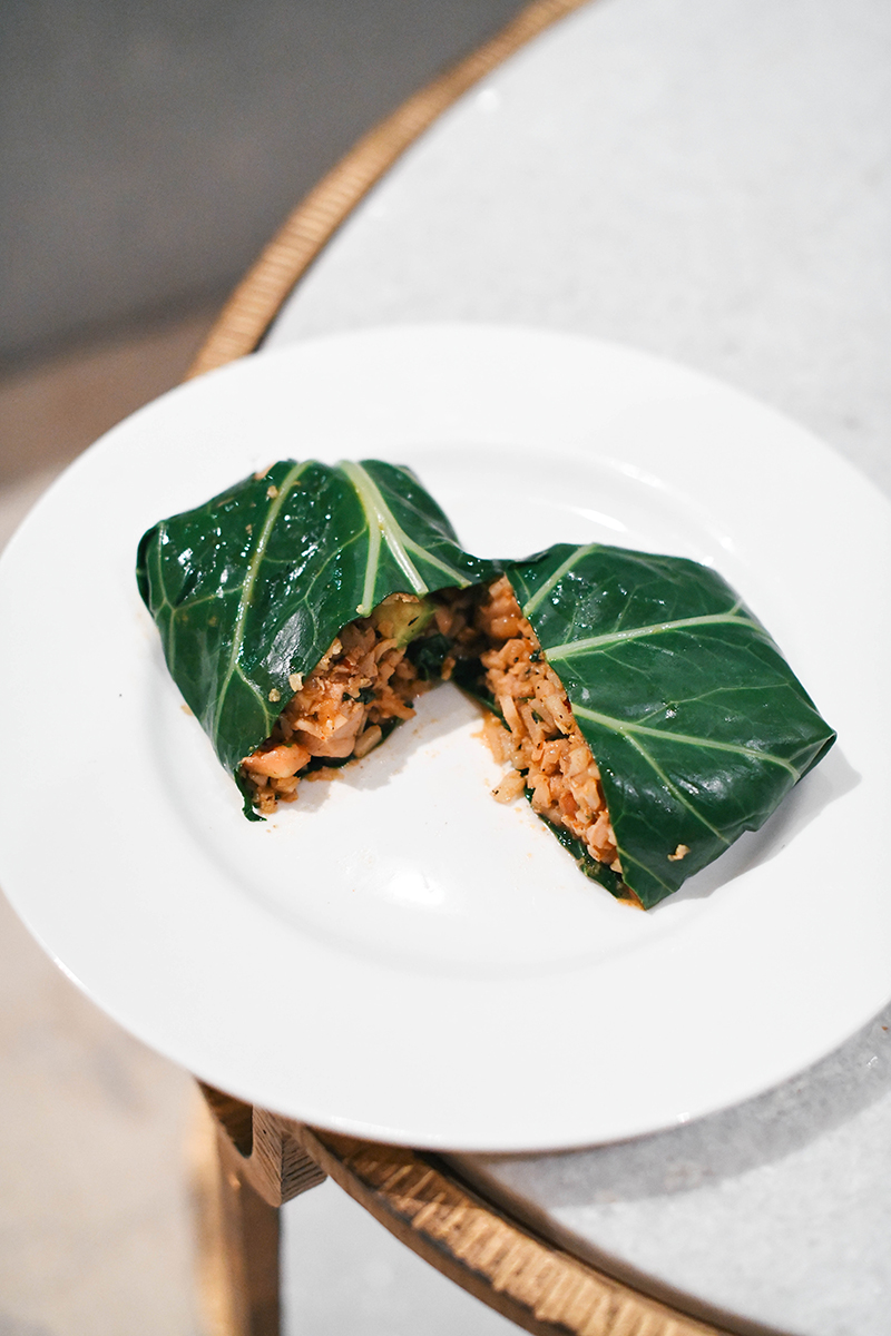 COLLARD GREEN CHICKEN BURRITOS