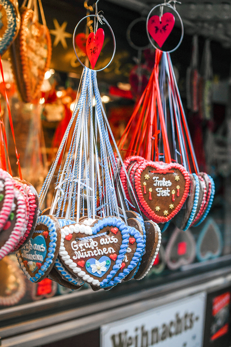 Munich, Germany Christmas Markets // Gingerbread Hearts