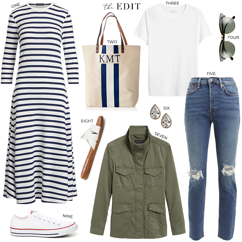 THE EDIT // POLO RALPH LAUREN STRIPED KNIT MIDI DRESS