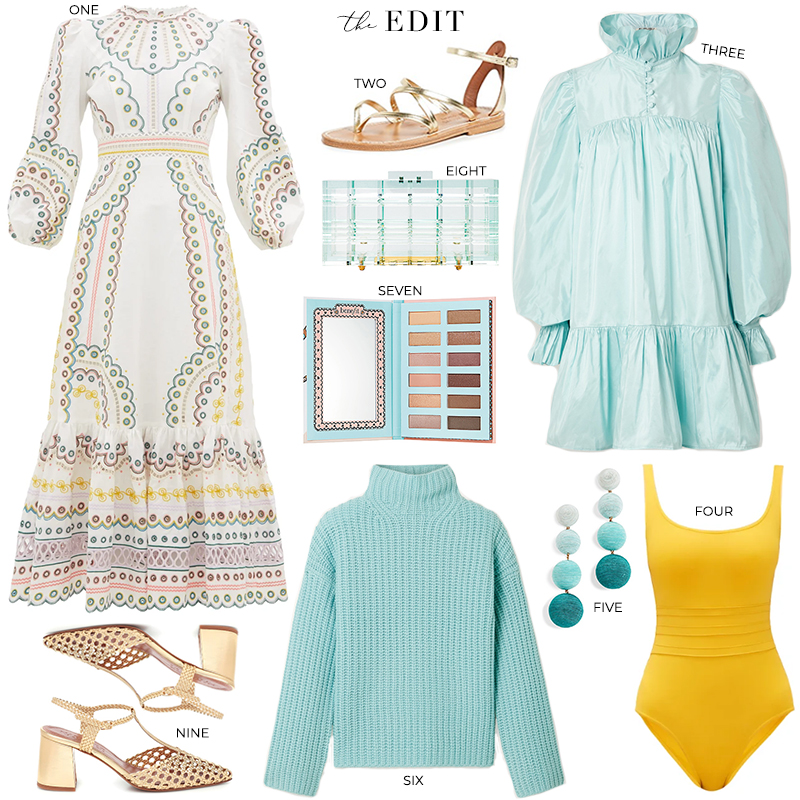 The Edit | ZIMMERMANN PEGGY EMBROIDERED EYELET MIDI DRESS