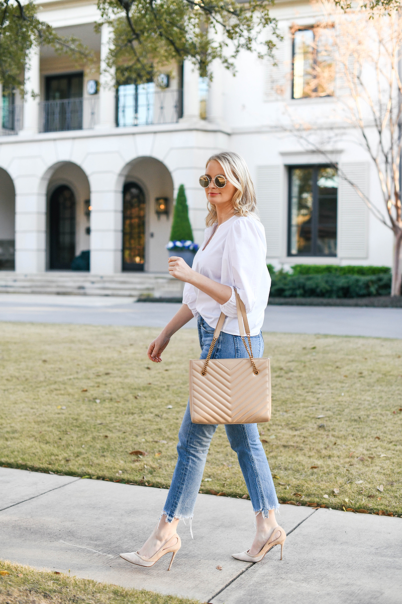 Banana Republic Puff Shoulder Top | The Style Scribe