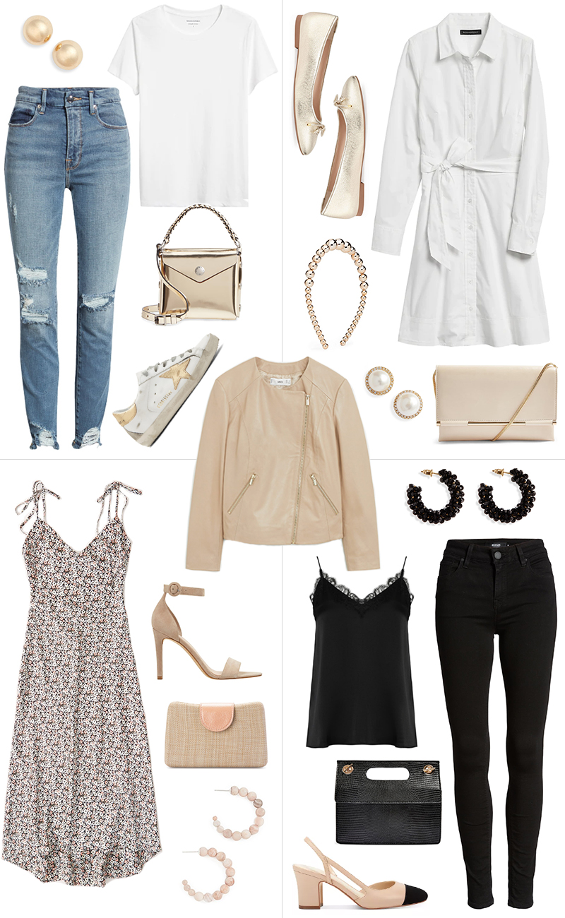 STYLING A BEIGE LEATHER JACKET FOUR DIFFERENT WAYS