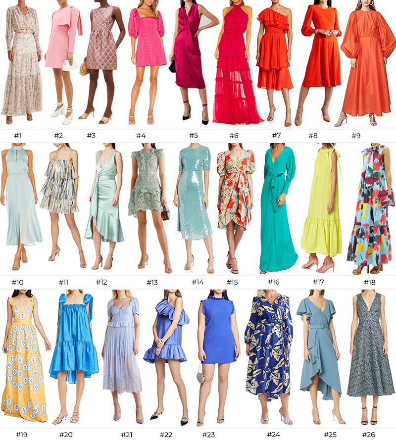 SPRING/SUMMER WEDDING GUEST DRESSES // STYLE GUIDE