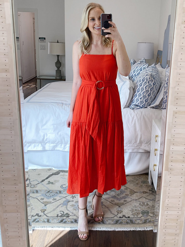 SPRING TRY-ON #2 // NATION LTD ANAIS BELTED SUNDRESS
