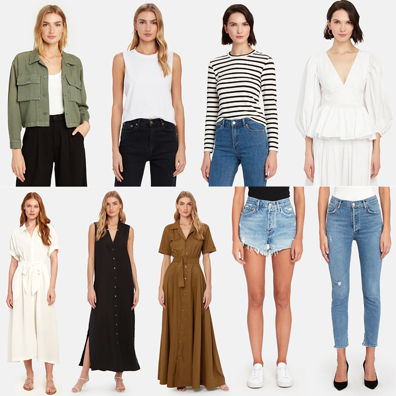 VERISHOP // BEST BASICS AND DRESSES