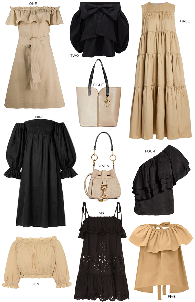 BLACK + BEIGE STYLE STAPLES FOR SUMMER
