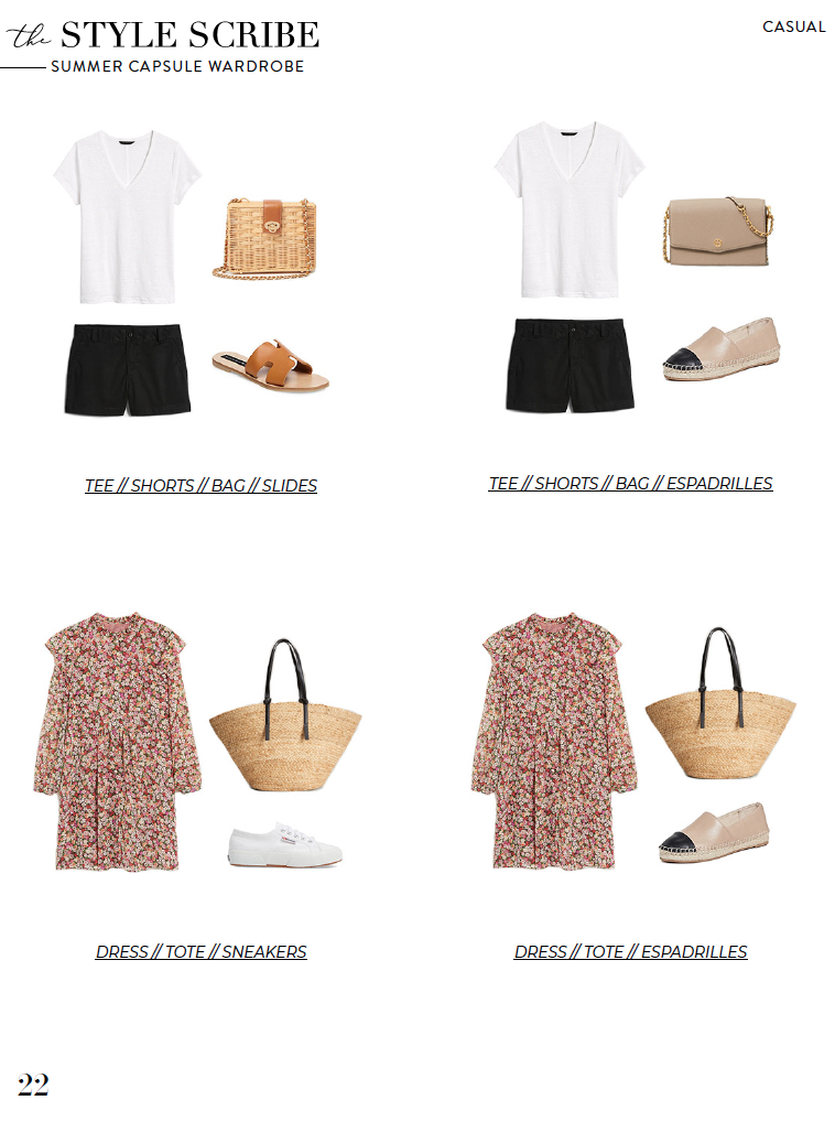 The Style Scribe Summer 2020 Capsule Wardrobe