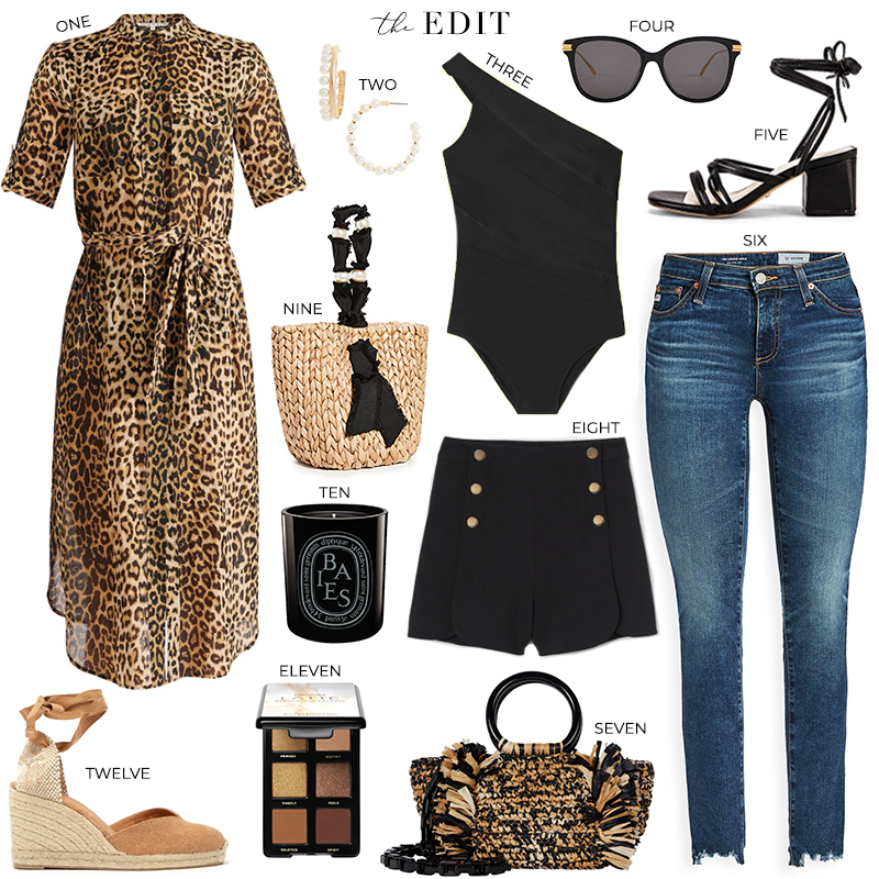 THE EDIT // VERONICA BEARD LEOPARD PRINT COVERUP