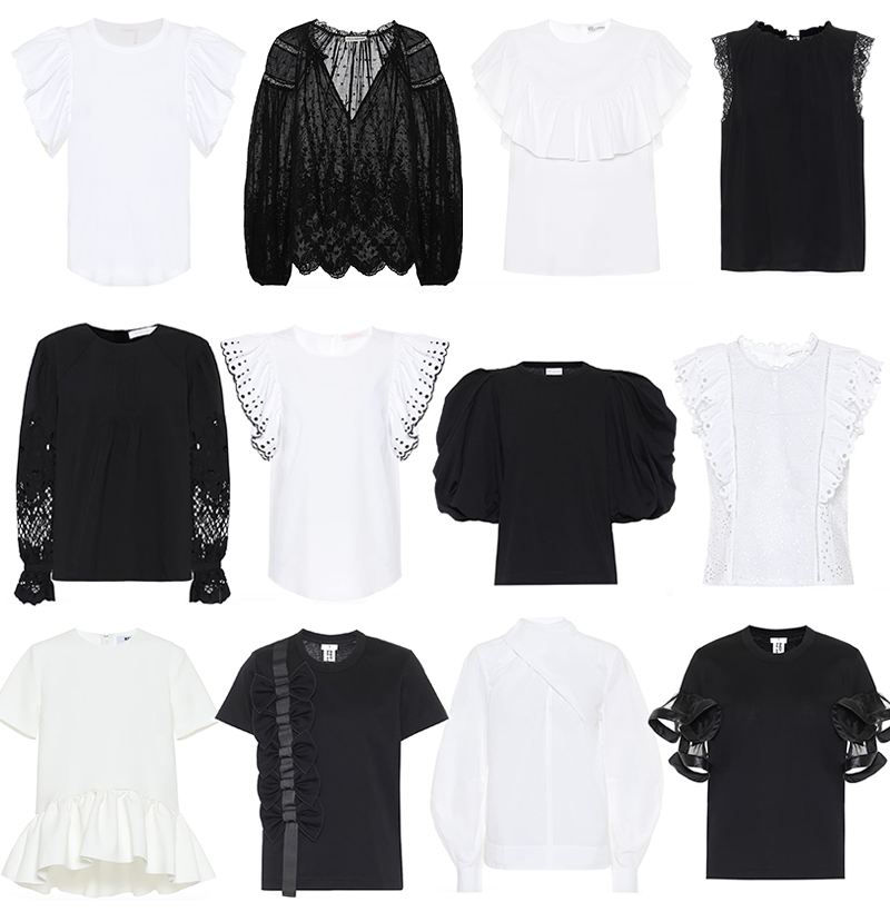MYTHERESA BLACK + WHITE TOPS