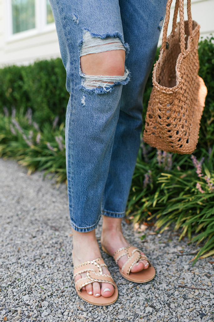 BOYISH DISTRESSED STRAIGHT LEG JEANS