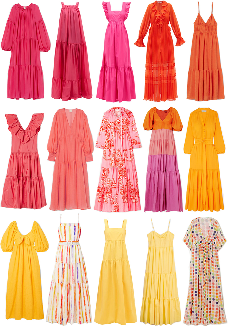COLORFUL MAXI DRESSES FOR SUMMER
