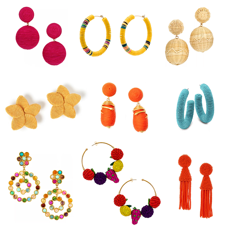 FESTIVE SUMMER STATEMENT EARRINGS