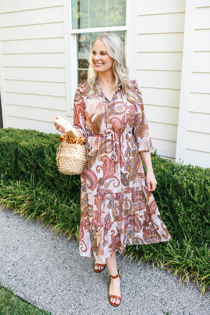 PAISLEY DRESS FOR FALL TWO WAYS