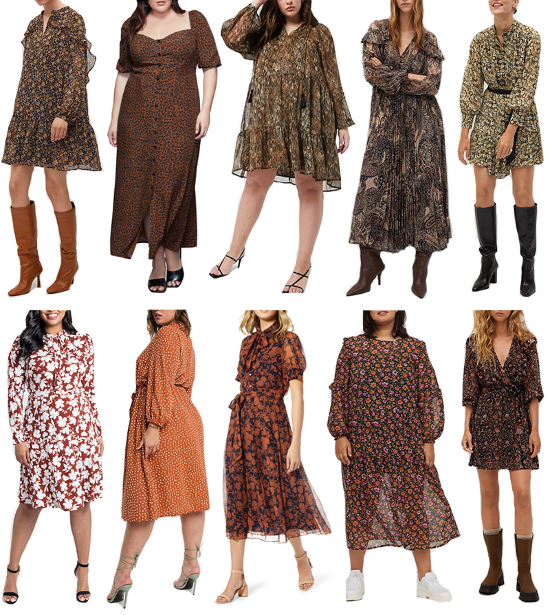 FALL PRINTED DRESSES FOR EVERY SIZE