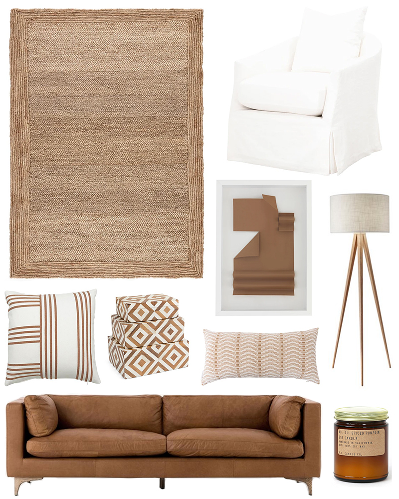 INTERIOR INSPO: COGNAC AND WHITE