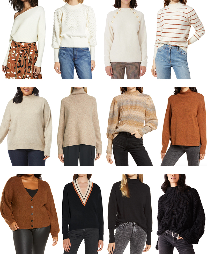 NORDSTROM'S BEST SWEATERS FOR FALL