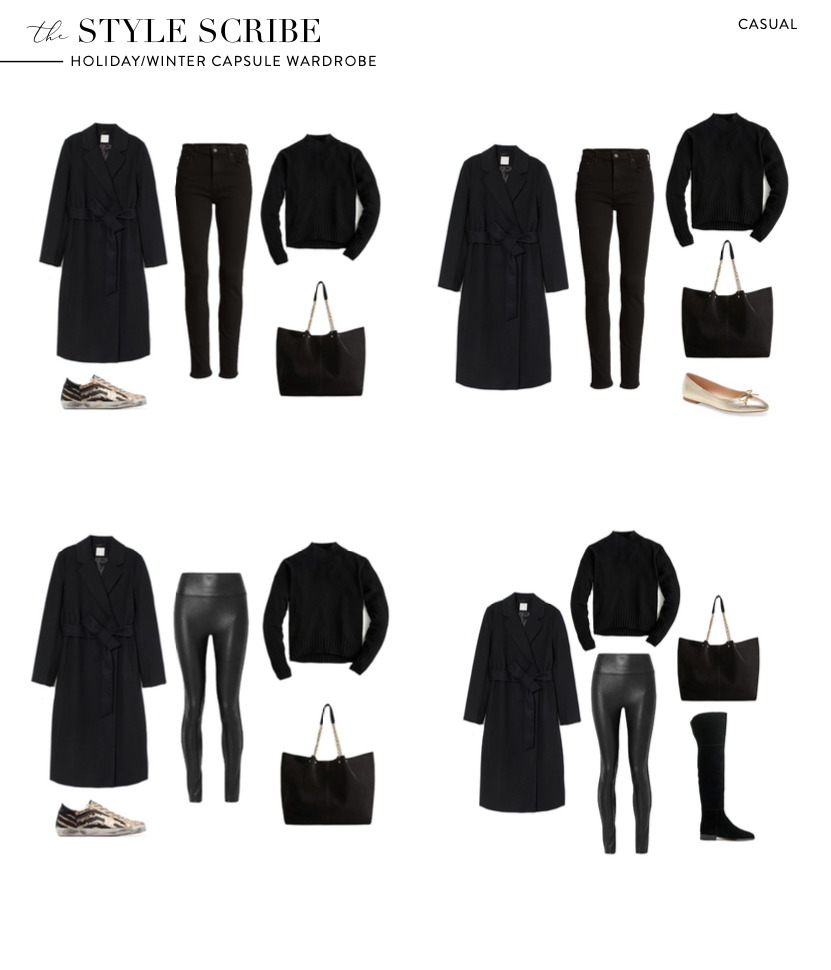 HOLIDAY/WINTER 2020 CAPSULE WARDROBE // THE STYLE SCRIBE