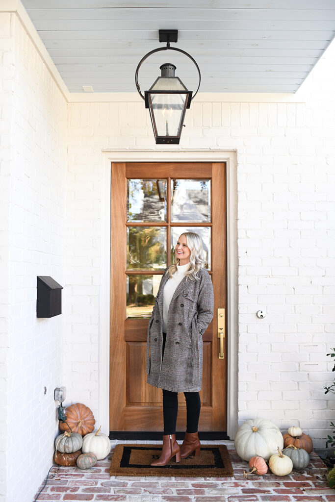 THE STYLE SCRIBE // NORDSTROM HALOGEN PLAID TRENCH COAT
