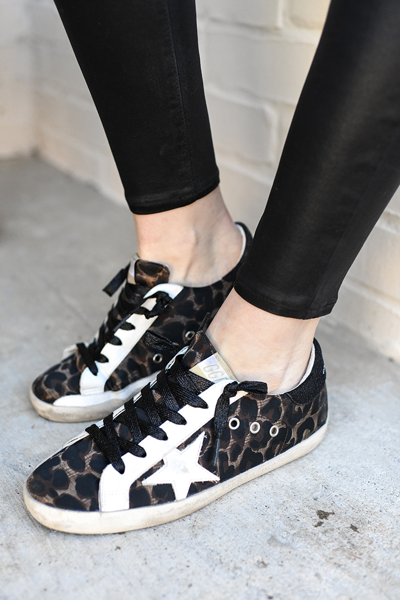 THE STYLE SCRIBE // GOLDEN GOOSE LEOPARD SNEAKERS