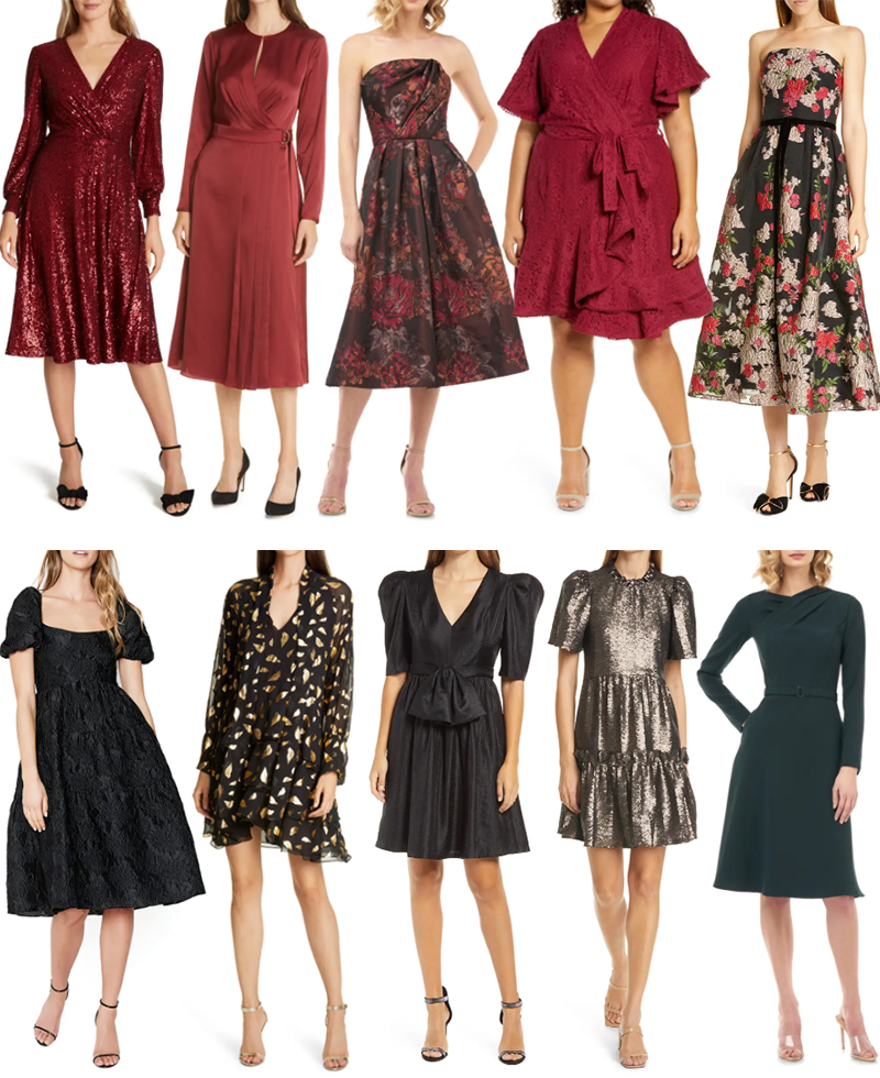 HOLIDAY/WINTER PARTY DRESSES