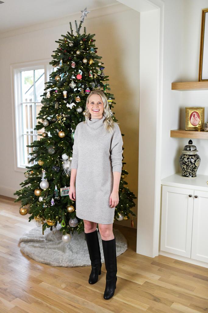 NORDSTROM SIGNATURE CASHMERE SWEATER DRESS