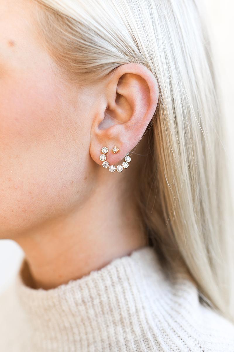 COOL EVERYDAY EARRINGS // C-SHAPED DIAMOND EARRINGS