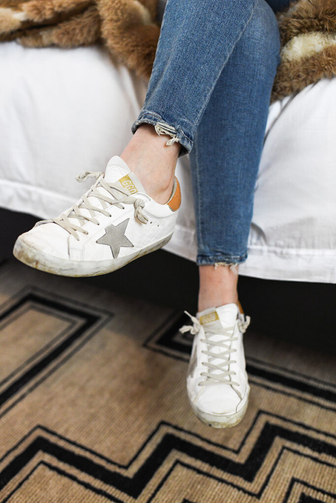 GOLDEN GOOSE SNEAKERS WITH COGNAC, GRAY AND WHITE