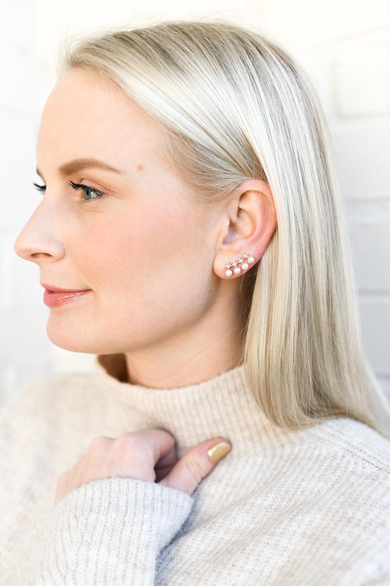 COOL EVERYDAY EARRINGS // LEXI MAZZ DIANA EAR CLIMBERS