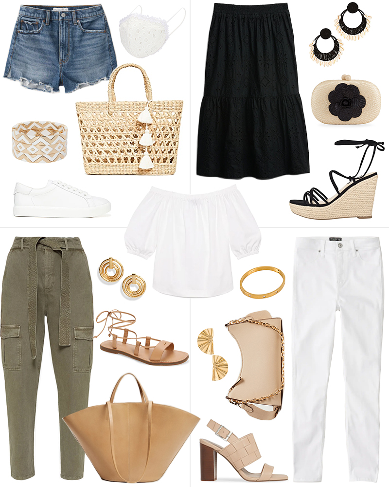ONE PIECE, FOUR WAYS // OFF THE SHOULDER TOP