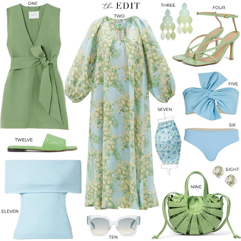 THE EDIT // BERNADETTE GEORGETTE BOUQUET PRINT DRESS