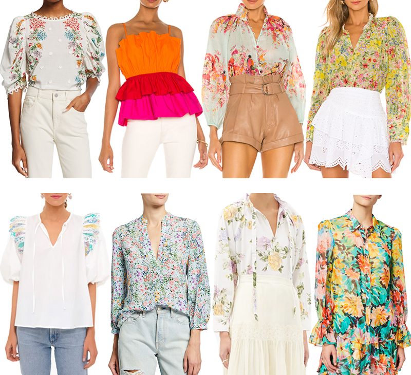 COLORFUL BLOUSES FOR SUMMER OVER $100