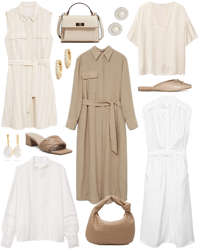 NEUTRAL WORK-FRIENDLY WARDROBE STAPLES
