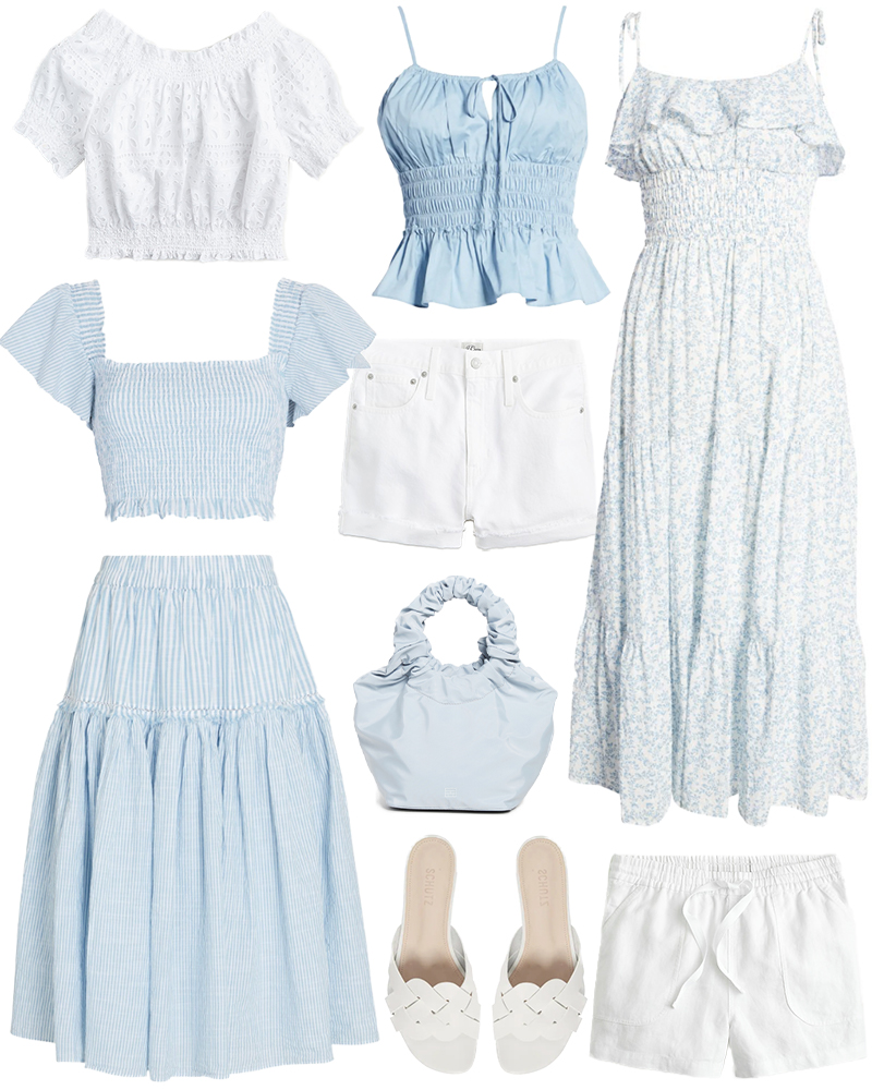 BLUE AND WHITE SUMMER STYLE ROUNDUP