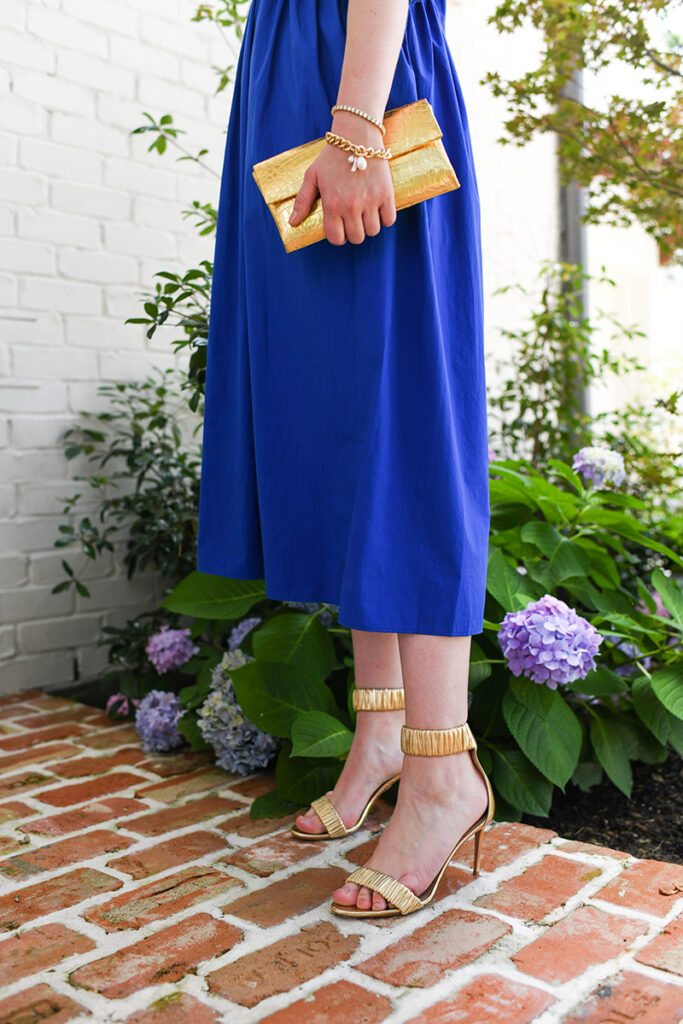 Merritt Beck in Ciao Lucia Blue Midi Dress // The Style Scribe, Dallas Fashion Blog