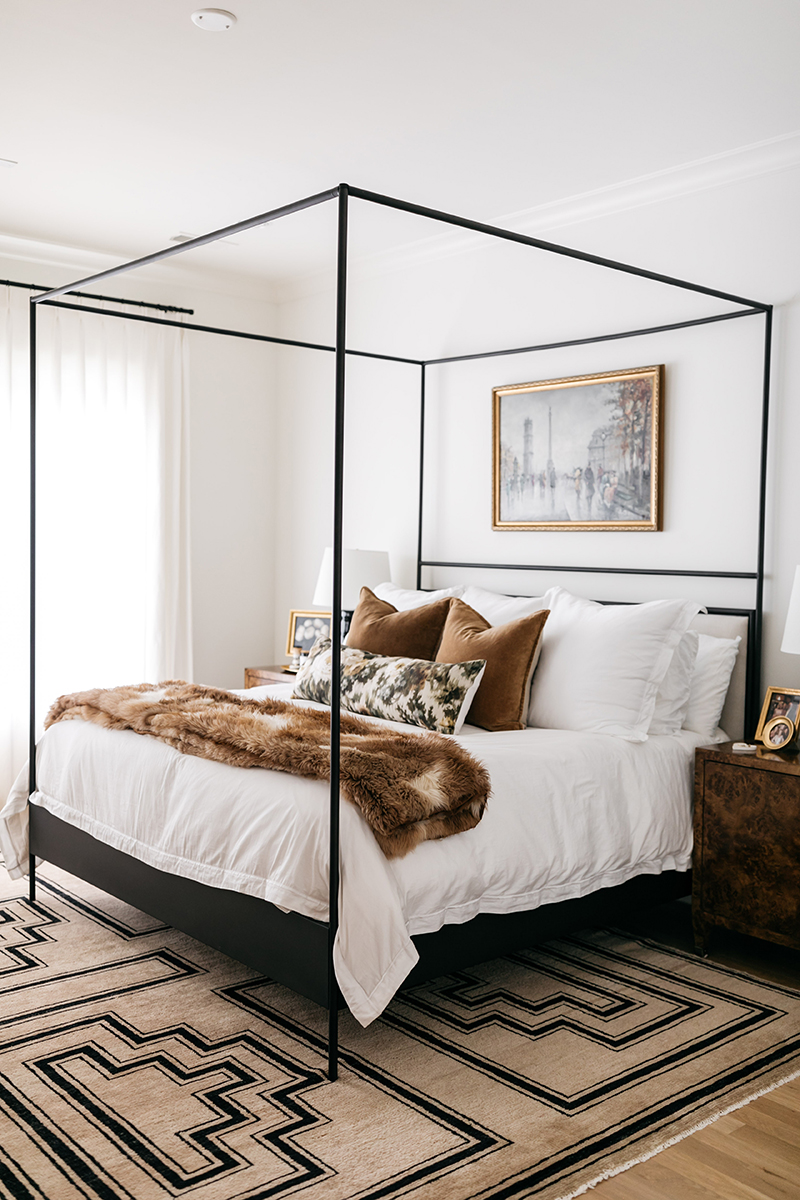 Stylish and bold neutral bedroom // Merritt Beck of The Style Scribe