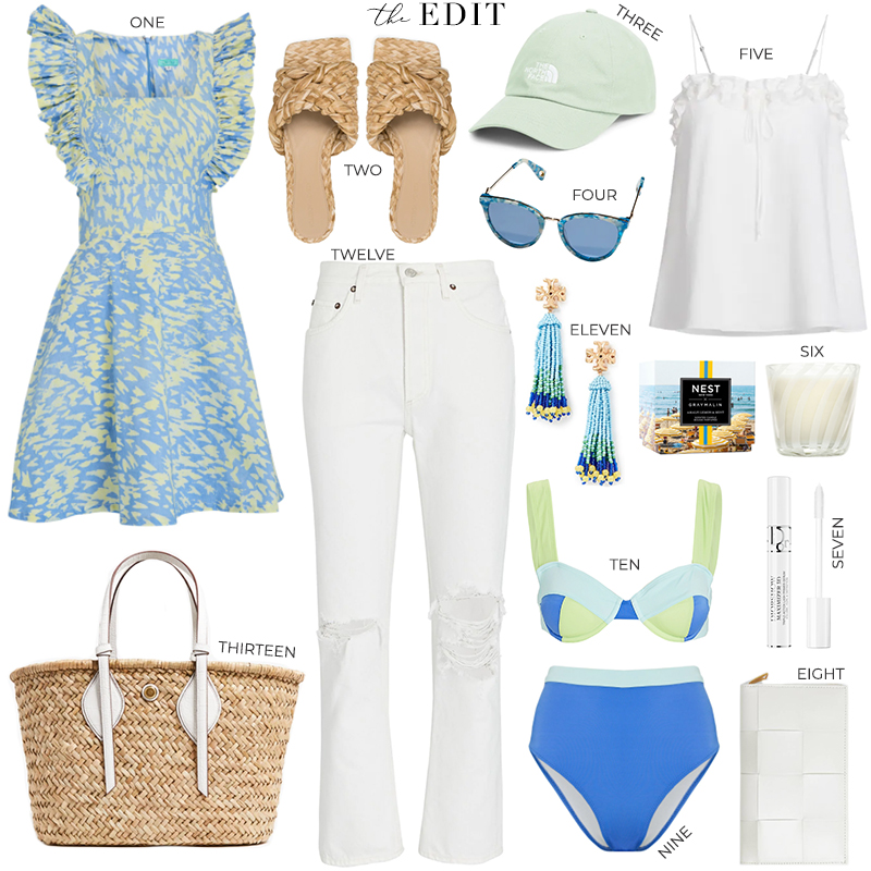 THE EDIT // BLUE, PALE GREEN AND WHITE