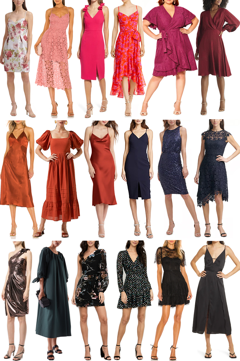 CASUAL + COCKTAIL WEDDING GUEST DRESSES FOR LATE SUMMER/EARLY FALL UNDER $200