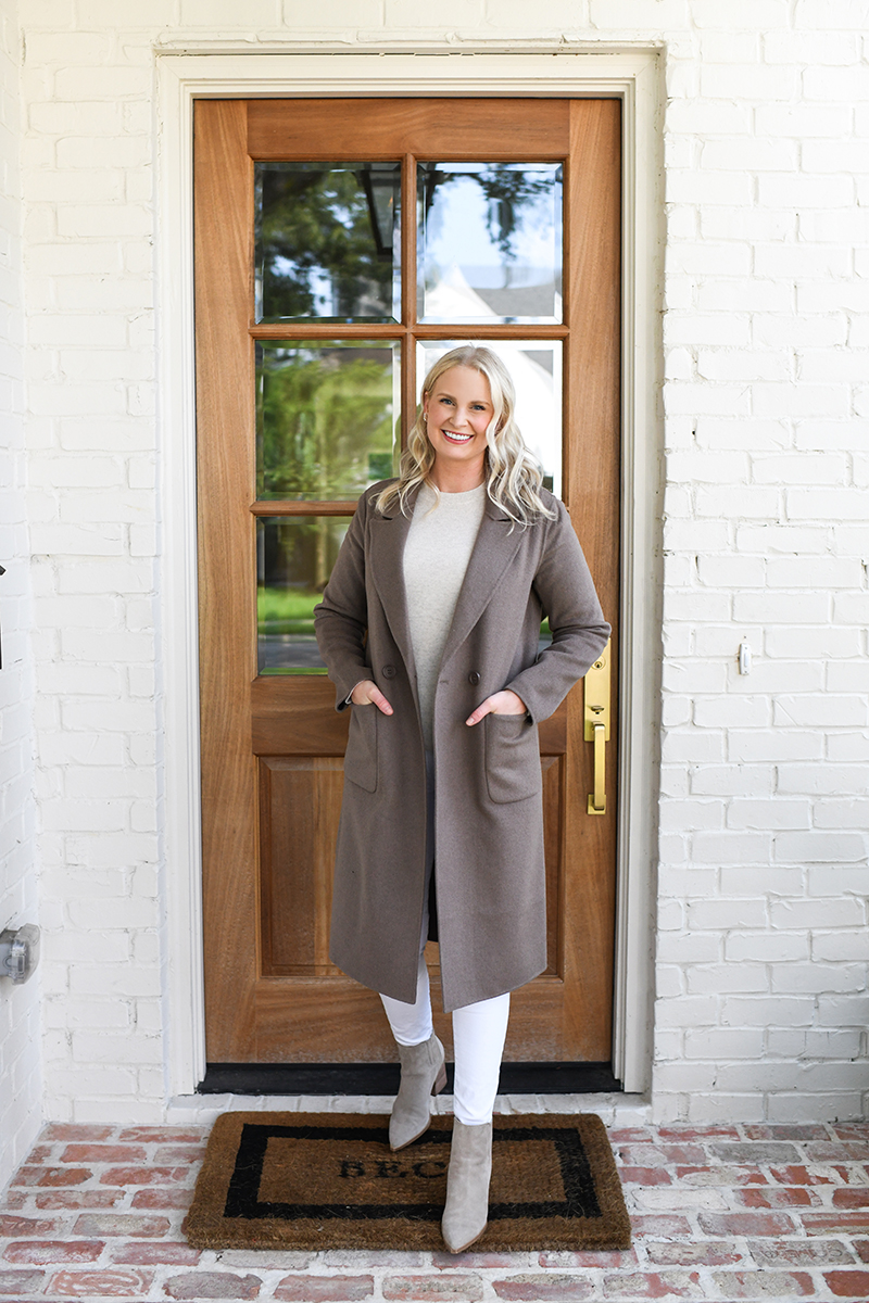 NORDSTROM ANNIVERSARY SALE // HALOGEN WOOL COAT AND VINCE CASHMERE SWEATER
