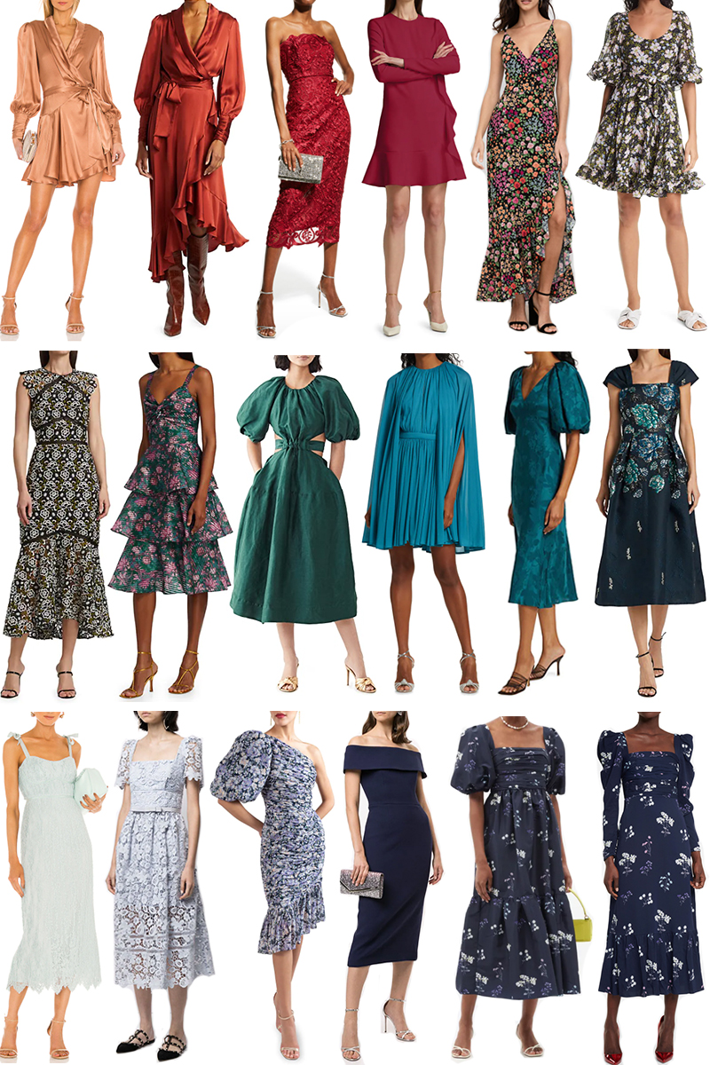 LATE SUMMER/EARLY FALL WEDDING GUEST DRESS IDEAS