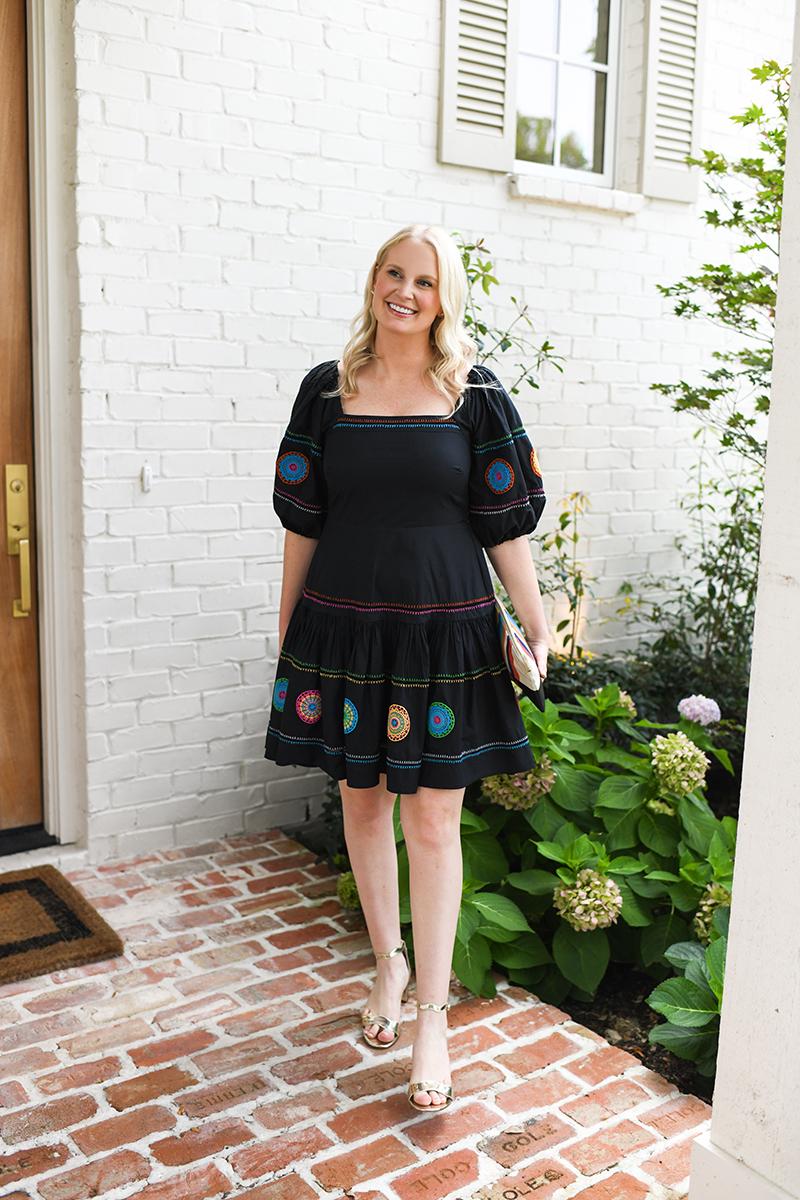 TANYA TAYLOR VIVIANA EMBROIDERED DRESS