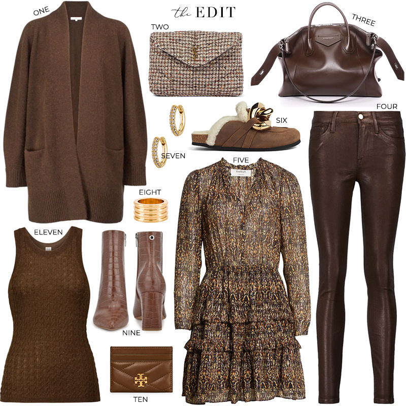 THE EDIT // SHADES OF BROWN - FALL STYLES BY VINCE, FRAME, GIVENCHY AND MORE