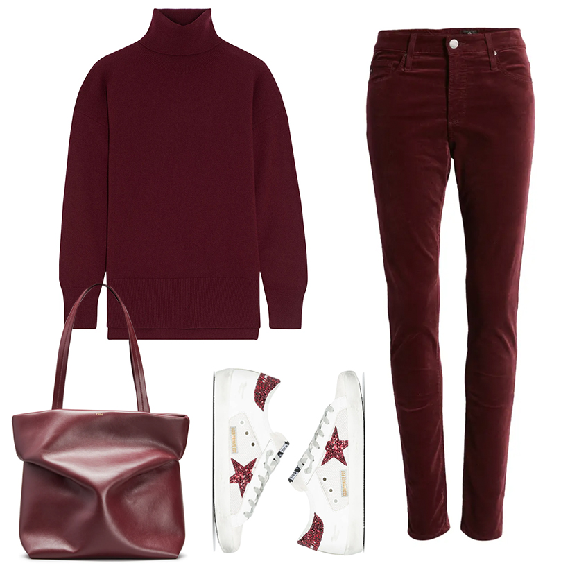 COZY CHIC FALL OUTFITS // BURGUNDY MONOCHROMATIC OUTFIT