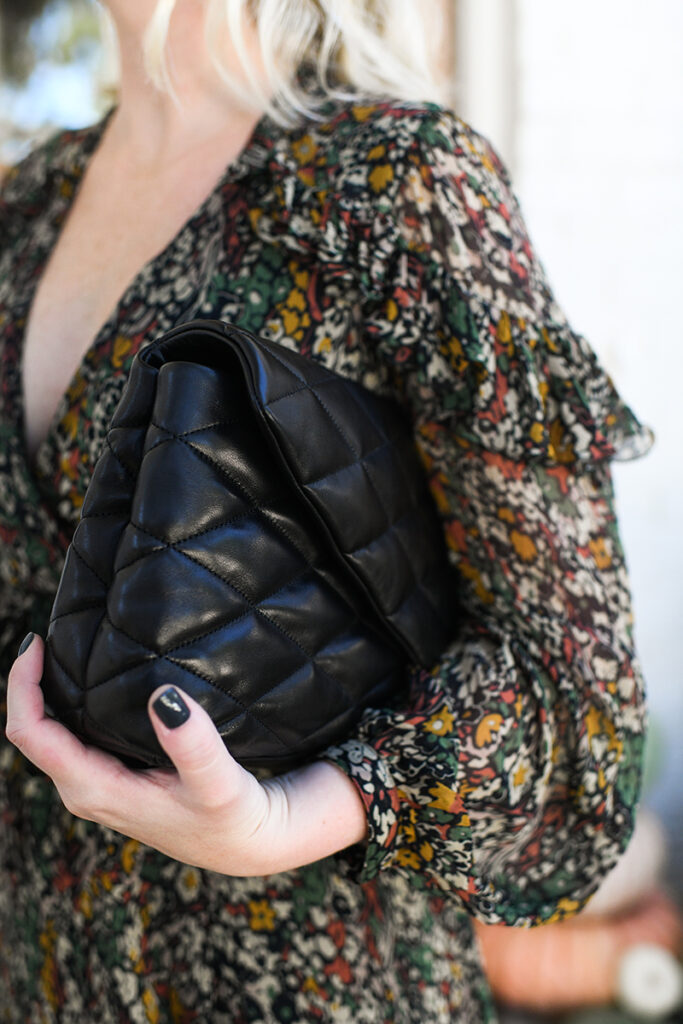 SAINT LAUREN QUILTED LEATHER CLUTCH FROM NEIMAN MARCUS